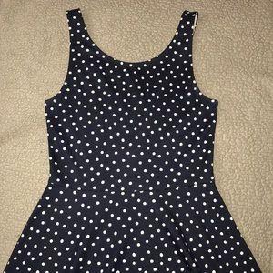 Navy Blue Polka Dot Dress Size 6 H&M EUC